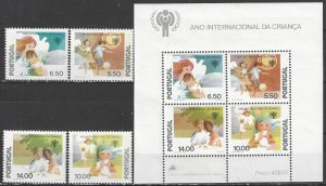 Portugal  1425-8a  MNH  UNICEF Year of the Child