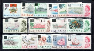 Bahamas QEII 1966 Decimal MNH set #273-287 WS15518
