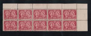 Canada #61 Very Fine Mint UR Plate #27 Corner Block Of Ten
