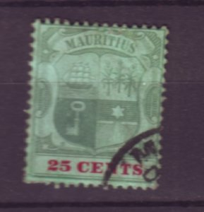 J21952 Jlstamps 1895-1904 mauritius used #110 coat arms