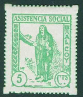SPAIN Civil War Republic ALCOY Label GG 53