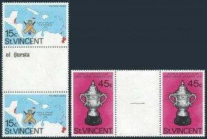 Seychelles 550a,MNH.Michel Bl.24. Olympics Los Angeles-1984.Long jump,Swimming,
