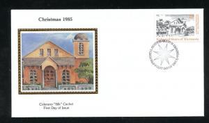Micronesia 24,  22c Christmas 1985 Colorano Silk Cachet