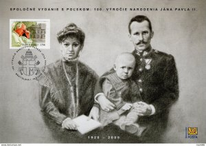 Stamps of Slovakia  2020  - Centenary Since Birth of Pope John Paul II - special