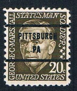 USA-Prominent Am.  Pittsburgh PA  Precancel #1289-81 -used