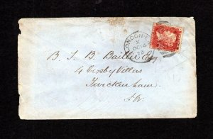 PENNY RED PLATE 145 USED ON COVER WITH 'CCA' PERFIN