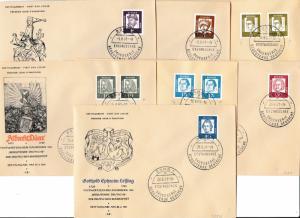 Germany Scott 824-829, 832 Unaddressed.
