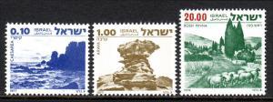 Israel 649,664,672, MNH. Landscapes: Caesarea, Arava, Rosh Pinna, 1978