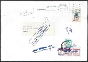 MALAYSIA 1998 cover ex Singapore with postage dues returned to sender......10063
