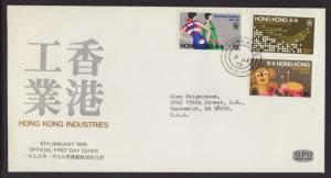 Hong Kong 351-353 Industries Typed FDC