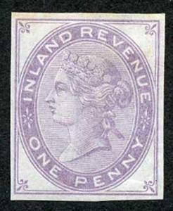 1d Lilac Postal Fiscal SGF20-22 Imprimatur Plate 16