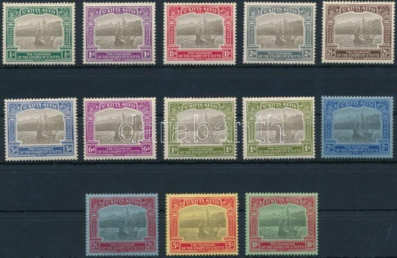 St. Kitts-Nevis stamp Definitive set without closing value (2 x Mi 59) WS233690