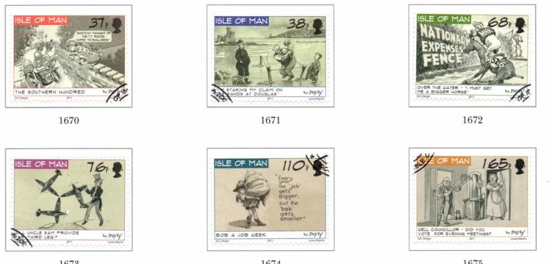 Isle of Man Sc 1436-1 2011 Disty Miller Cartoons stamps used