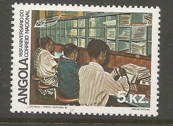 ANGOLA  672  MNH, 185TH ANNIVERSARY OF POST OFFICE