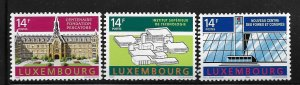 LUXEMBOURG,863-865,  MINT HINGED HINGE REMNANT, BUILDINGS