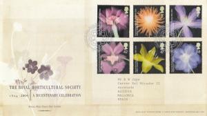 GB 2004 Royal Horticultural Society FDC Edinburgh CDS with enclosure VGC