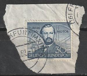#688 Germany Used on paper
