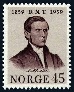 Norway 375, MNH. Temperance Movement, 100th anniv. Asbjorn Kloster, 1959