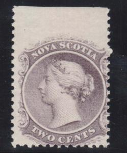 Nova Scotia #9 NH Mint Imperforate Top Margin Single Var.  **With Certificate**