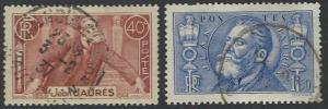 France #313-314 Used Full Set of 2 (U18)