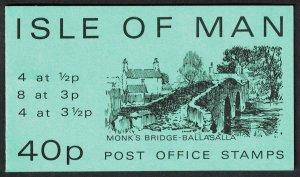 Isle of Man Monk's Bridge Ballasalla 40p Sachet 1974 SG#SB6 Sachet