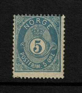 Norway SC# 24a, Mint Hinged, Hinge Remnant, some toning, see notes - S9205