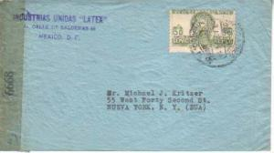 Mexico, Airmail, Censored