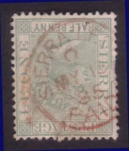 SIERRA LEONE 1885 QV ½d SIERRA LEONE / PAID cds in red.....................60255