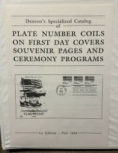 DENSON'S SPECIALIZED CATALOG OF PLATE # COILS PNC FIRST DAY COVERS + Programs