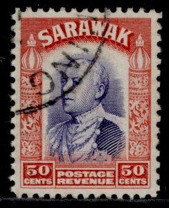 SARAWAK GV SG119, 50c violet & scarlet, FINE USED.