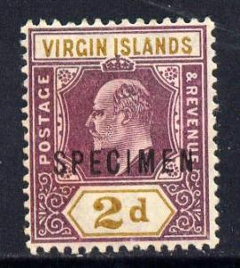 British Virgin Islands 1904 KE7 2d purple & ochre ove...