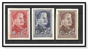 Hungary #864-866 (v) Joseph Stalin Imperf Set MH