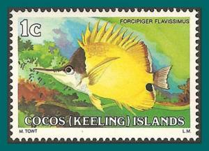 Cocos 1979 Forceps Fish, MNH 34,SG34