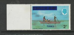 Tuvalu 1976 Defs Opts on Gilberts, 2c CA diagonal Crown to right UM/MNH SG 20a