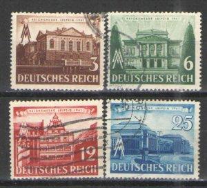 Germany - Third Reich 1941 Sc# 498-501 Used G - 1941 Leipzig Fair
