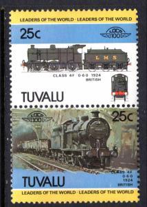 Tuvalu 240 Trains MNH VF