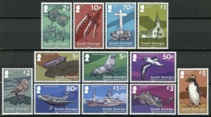 South Georgia & Sandwich Is Definitives Stamps 2020 MNH Birds Ships Fish 12v Set