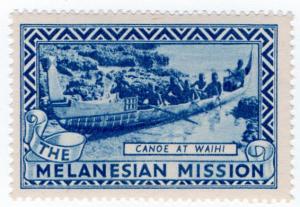 (I.B) Cinderella Collection : The Melanesian Mission (Canoe)