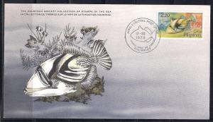 Phillipines FDC card Sc 1381 Cousteau Soc. Triggerfish  L81