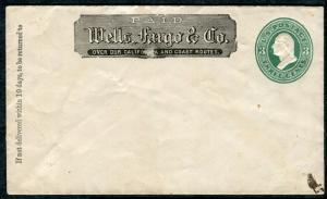 Cover - Wells Fargo - Blank and Unaddressed 1870s - U163