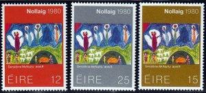 Ireland #489-91 Christmas, MNH.