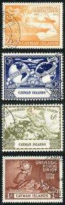 Cayman Is SG131/4 1949 UPU CDS used