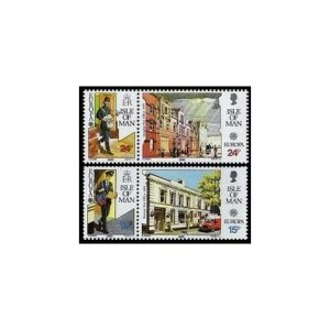 Isle of Man 418-421a pairs,MNH.Michel 427-430. EUROPE CEPT-1990.Post Offices.