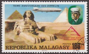 Malagasy Republic 548 CTO 1976 Count Zeppelin & LZ-127 Over Sphinx
