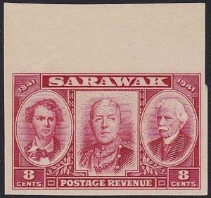 SARAWAK 1946 Centenary 8c IMPERFORATE PROOF ...............................70262