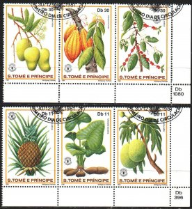 Sao Tome and Principe. 1981. 744-49. Fruits, flora. USED.