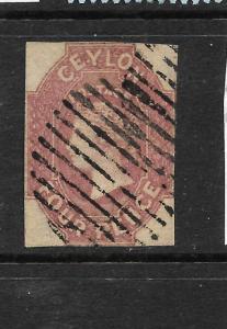 CEYLON  1857-59  4d   QV   FU    SG 4  Sc 5