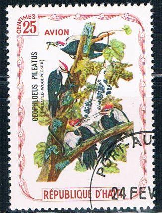 Haiti  Used Woodpecker cancel on LR (H0040)