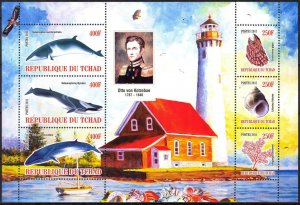 Chad 2011 Lighthouses Shells Whales (8) MNH Cinderella !