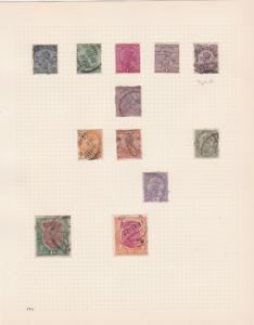india states british india stamps on 1 album page ref 13417